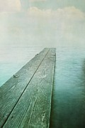 Grey Blue Prints - Jetty Print by Priska Wettstein