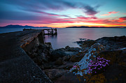 Jetty Sunset 2 Print by Paul and Fe Photography Messenger