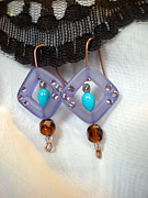 Turquoise Jewelry Prints - Jewel Box Earring Print by Beth Sebring