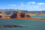 Ct-graphics Framed Prints - Jewel in the Desert - Lake Powell Framed Print by Christine Till
