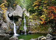 Scenic Litchfield Hills Prints - Jewel of the Berkshires - Bash Bish Falls  Print by Thomas Schoeller
