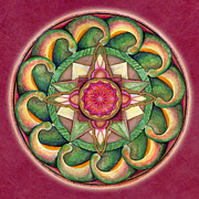 Heart Chakra Paintings - Jewel of the Heart Mandala by Jo Thomas Blaine