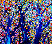 Jeweled Forest Print by Sue Holman