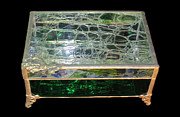 Copper Foil Glass Art - Jewelry Box by Julie Turner