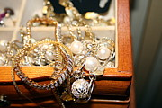 Treasure Box Jewelry Framed Prints - Jewelry Collections Framed Print by Ester  Rogers