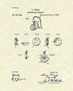 Setting Drawings Prints - Jewelry Setting 1889 Patent Art Print by Prior Art Design