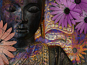 Buddhist Mixed Media - Jewels of Wisdom by Christopher Beikmann