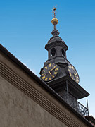 Star Of David Photos - Jewish Town Hall Clock by Ann Horn