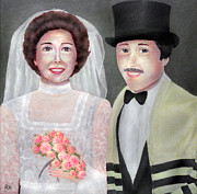 Jewish Paintings - Jewish Wedding by Ronald Haber