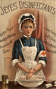 Jeyes 1890s Uk Nurses  Disinfectant Print by The Advertising Archives
