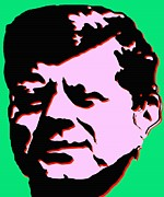 Politics Prints Digital Art Prints - JFK 4 - Kennedy Pop Art Print by Peter Art Print Gallery  - Paintings Photos Posters