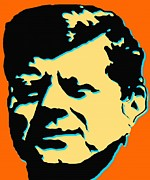 John Fitzgerald Kennedy Posters - JFK 4 - Kennedy Pop Art Poster by Peter Art Prints Posters Gallery
