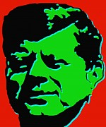 Politics Prints Digital Art Prints - JFK 5 - Kennedy Pop Art Print by Peter Art Print Gallery  - Paintings Photos Posters