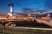 Traffic Control Prints - JFK Airport Tower at Dawn Print by Jonathan Gewirtz