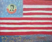 President Of The Usa Painting Prints - JFK Americana Print by Jay Kyle Petersen