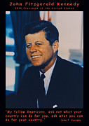President Kennedy Posters - JFK John F Kennedy Poster by Official White House Photo