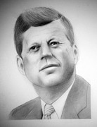 Camelot Drawings Prints - Jfk Print by Kendrick Roy