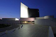 Presidential Photos Metal Prints - JFK Library and Museum by Night Metal Print by Juergen Roth