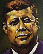 Jfk Paintings - Jfk by Stuart Glazer