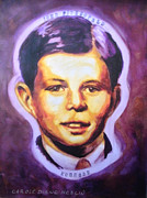 Jfk Paintings - JFK When He Was Young by Carole Heslin