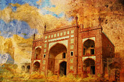 Historic Site Painting Metal Prints - Jhangir Tomb Metal Print by Catf