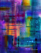 Vibrant Color Mixed Media - Jibe Joist II by Moon Stumpp