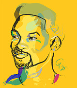 Princes Painting Posters - Jiggy Will Smith Poster by Go Van Kampen