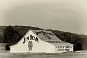 Black Commerce Art - Jim Beam - D008291-bw by Daniel Dempster