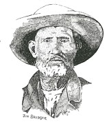 Jim Bridger Prints - Jim Bridger Print by Clayton Cannaday