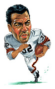 Jim Brown Print by Art