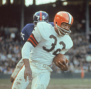 Cleveland Browns Prints - Jim Brown NFL Legend Print by Sanely Great