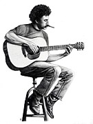 Songwriter Drawings Posters - Jim Croce Poster by Danielle Haney
