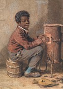 Stool Paintings - Jim Crow by William Henry Hunt