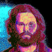 Square Sizes Metal Prints - Jim Morrison 20130329 square Metal Print by Wingsdomain Art and Photography