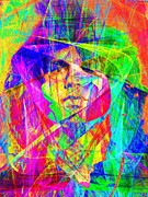 Musicians Digital Art Prints - Jim Morrison 20130613 Print by Wingsdomain Art and Photography