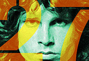 Haze Digital Art Prints - Jim Morrison 27 Print by John Bruno