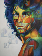 Jim Morrison Drawings Prints - Jim Morrison 27 Print by Steve Hunter