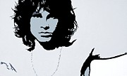 Lead Singer Painting Framed Prints - Jim Morrison Framed Print by Bryan Dubreuiel