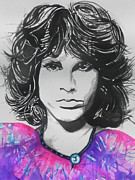 Blacks Painting Posters - Jim Morrison Poster by Chrisann Ellis