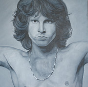 Jim Morrison Prints - Jim Morrison Print by David Dunne