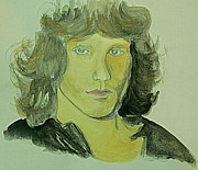 Jim Morrison Drawings Prints - Jim Morrison Print by GuoJun Pan