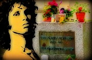 France Doors Digital Art Framed Prints - Jim Morrison Memorial Framed Print by John Malone