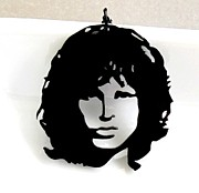 Perspex Necklace Art - Jim Morrison Necklace by Rony Bank