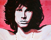 The Doors Poster Paintings - Jim Morrison of The Doors by Bob Baker