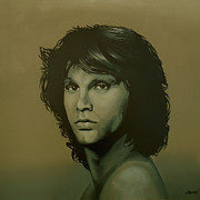 Rock And Roll Painting Posters - Jim Morrison Poster by Paul  Meijering