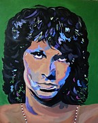 Icons Painting Originals - Jim Morrison by Paula Justus