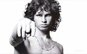 Psychedelic Photo Posters - Jim Morrison Portrait Poster by Sanely Great