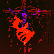 Jim Morrison Prints - Jim Morrison Resurrection Print by Neil Finnemore