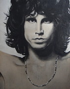 Jim Morrison Drawings Prints - Jim Morrison Print by Riane Cook