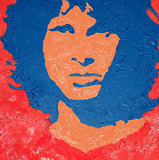 Lizard King Prints - Jim Morrison Seeing Red Print by Robert Margetts